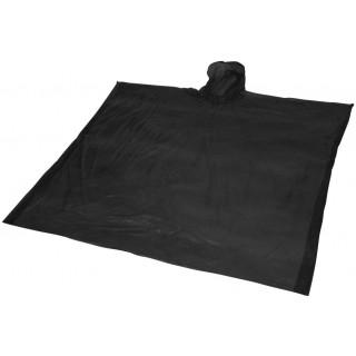 Ziva Einweg Regenponcho mit Hülle, schwarz