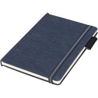 Jeans A5 Stoff Notizbuch, dunkelblau