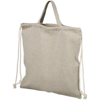 Pheebs 150 g/m² recycelter Rucksack mit Kordelzug, heather natur