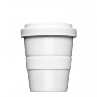 Mahlwerck Coffee2Go Mini, Kaffeebecher to Go Form 344, mit glatter oder geriffelter Siliconbanderole