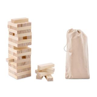 PISA Holzturm Spiel, holzfarben