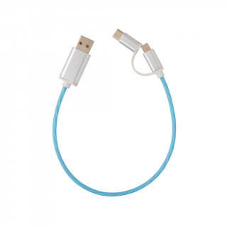 3-in-1 leuchtendes Kabel, blau