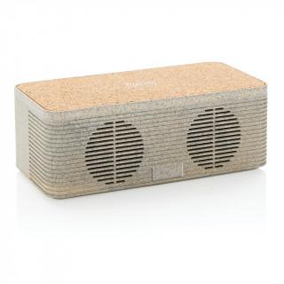 Weizenstroh Wireless Charging Lautsprecher, braun