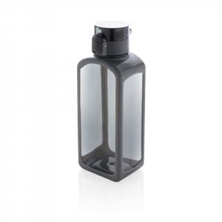 Squared verschließbare, auslaufsichere Tritanflasche, schwarz