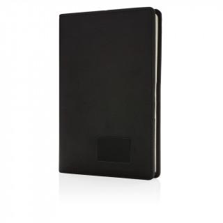 Notizbuch mit leuchtendem Logo, schwarz