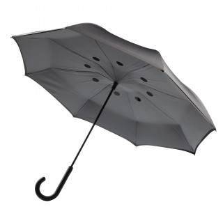 Umgekehrter Regenschirm 23'', grau