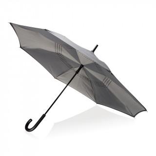 "Umgekehrter manueller 23"" Regenschirm, grau"