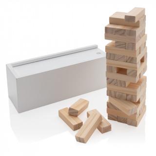 Deluxe Holz-Stapelturm, weiß