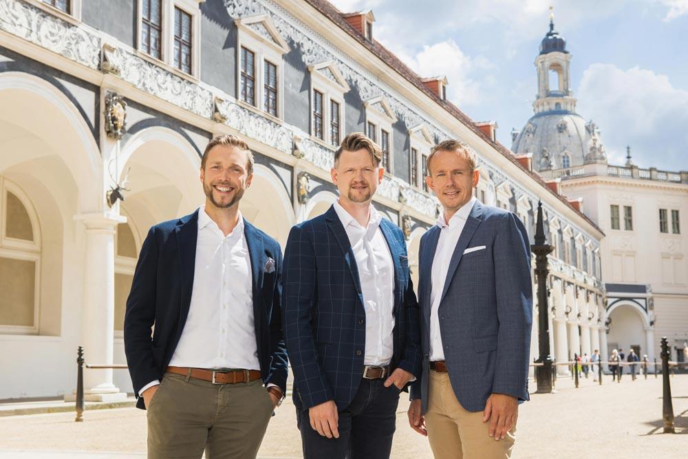 Geschäftsführung KSi International GmbH: Danilo Schmidt, Daniel Ackermann und Uwe Kasper (v.l.n.r.)