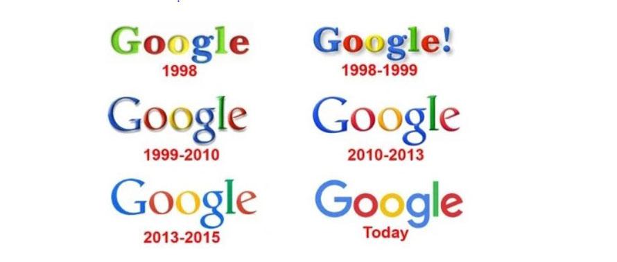 Das Google-Logo im Wandel der Zeit