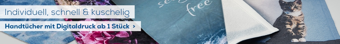 Handtücher mit Foto bedruckt